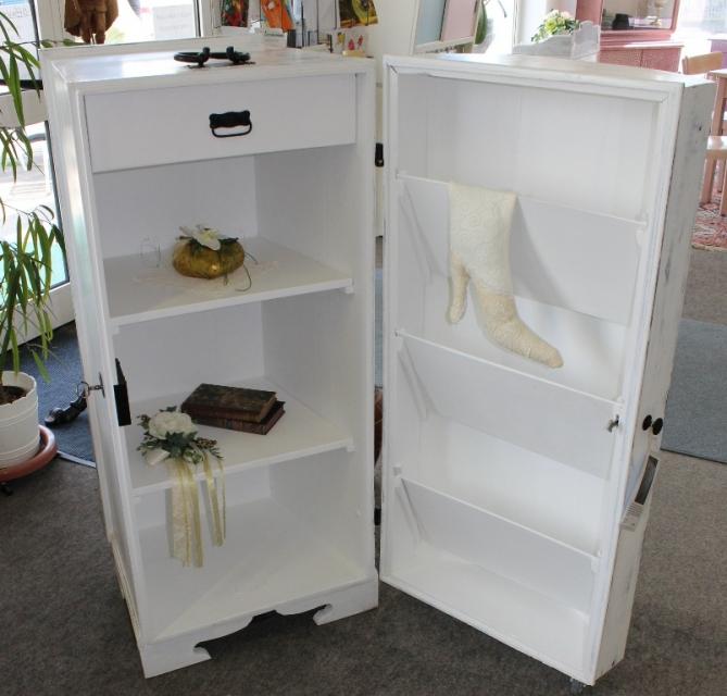 Schuhschrank aus Deckeltruhe in Shabby - SIGA Shop