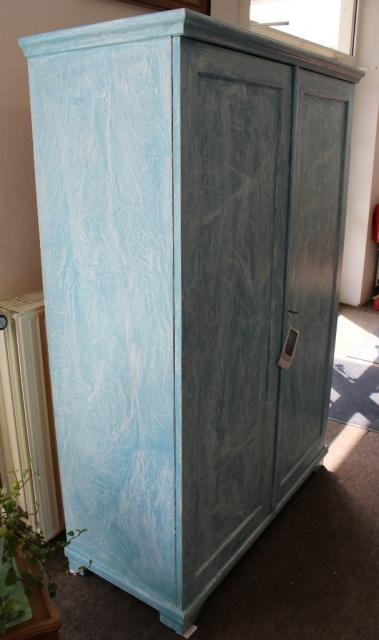 Kleiderschrank In Shabby Blau Weiss Siga Shop